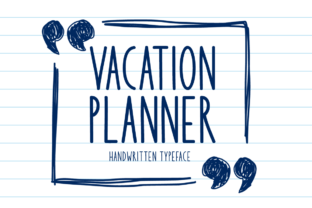 Print on Demand: Vacation Planner Display Font By Seemly Fonts 1