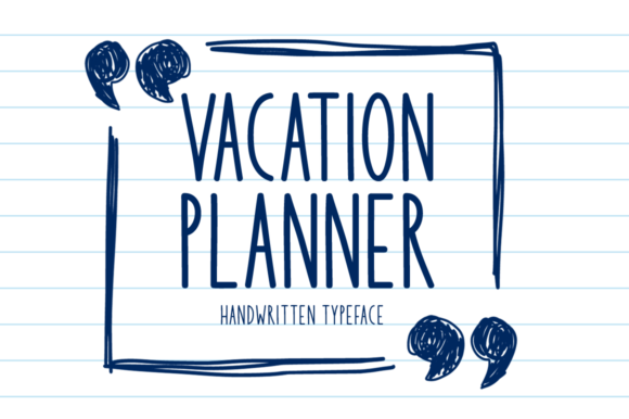 Print on Demand: Vacation Planner Display Font By Seemly Fonts