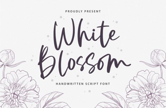 Print on Demand: White Blossom Script & Handwritten Font By Typefar