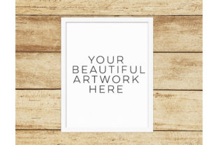 Print on Demand: White Frame Mockup Graphic Product Mockups By SunflowerLove