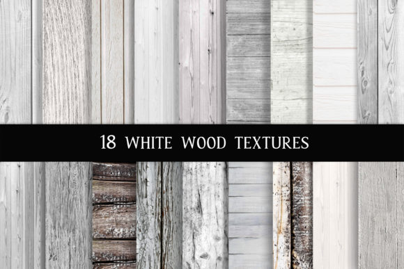 Print on Demand: White Wood Digital Paper Graphic Textures By The Rose Mind