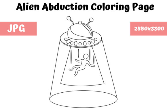 Print on Demand: Alien Abduction Coloring Book for Kids Graphic Coloring Pages & Books Kids By MyBeautifulFiles