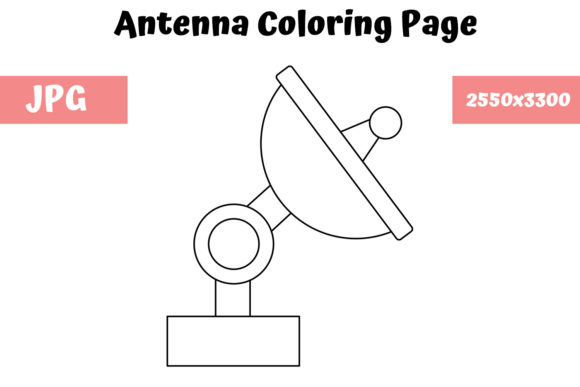 Print on Demand: Antenna Coloring Book for Kids Graphic Coloring Pages & Books Kids By MyBeautifulFiles