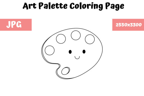 Print on Demand: Art Palette Coloring Page for Kids Graphic Coloring Pages & Books Kids By MyBeautifulFiles
