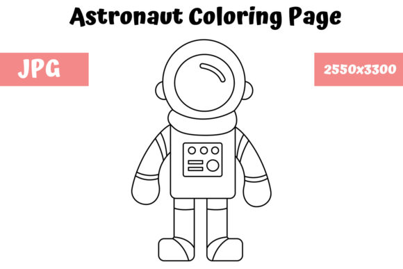 Print on Demand: Astronaut Coloring Page for Kids Graphic Coloring Pages & Books Kids By MyBeautifulFiles
