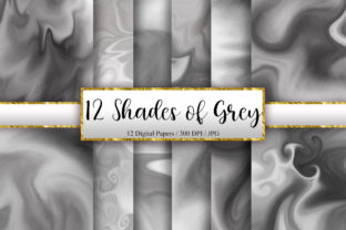 Print on Demand: 12 Shades of Grey Marble Background Graphic Backgrounds By PinkPearly