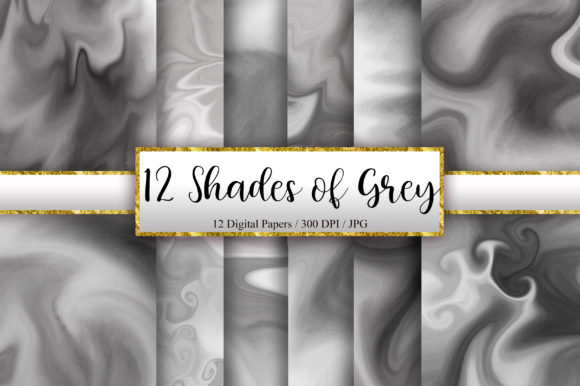 12 Shades of Grey Marble Background Graphic Backgrounds By PinkPearly