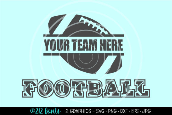 Print on Demand: 2 - American Football Banner Logo SVG Graphic Illustrations By 212 Fonts