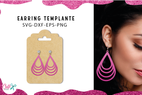 30 Earrings Templante Bundle Graphic Download