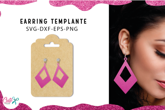 30 Earrings Templante Bundle Graphic Image
