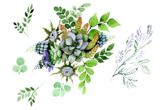 Print on Demand: A Bouquet of Love Flies Watercolor PNG Graphic Illustrations By MyStocks