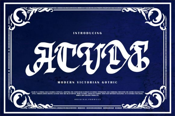 Print on Demand: Acude Blackletter Font By Vunira