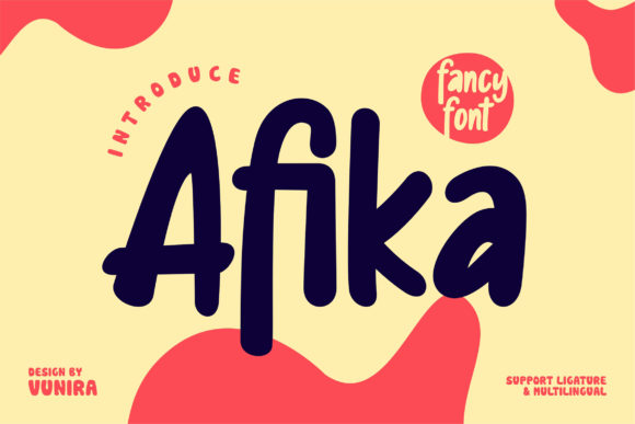 Print on Demand: Afika Display Font By Vunira