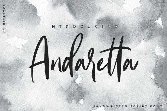 Print on Demand: Andaretta Script & Handwritten Font By Ditatype