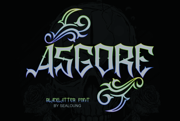 Print on Demand: Asgore Blackletter Font By Sealoung