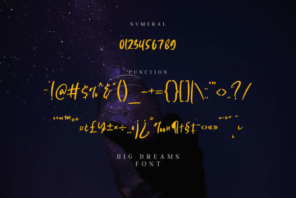 Big Dreams Font Preview