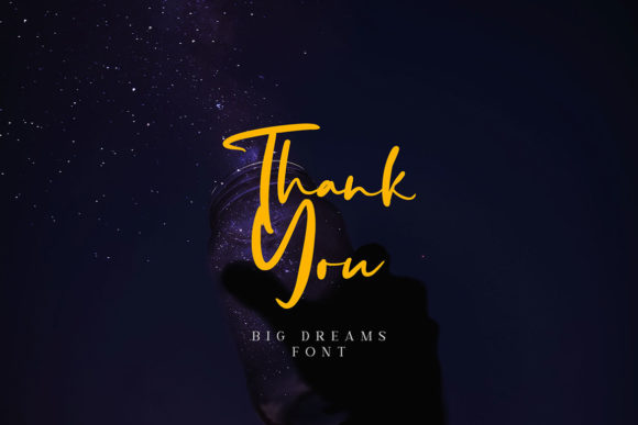 Big Dreams Font Design Item