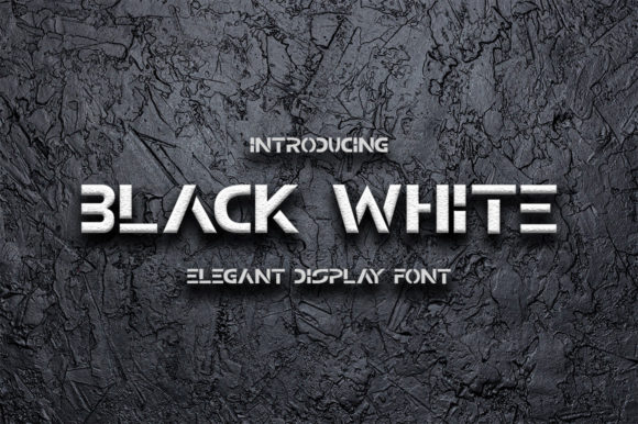 Print on Demand: Black White Display Font By Fillo Graphic