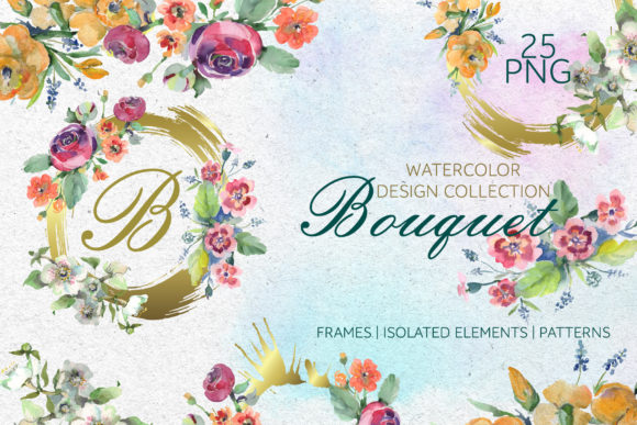 Print on Demand: Bouquet Spring Fairy Tale Watercolor Png Graphic Illustrations By MyStocks