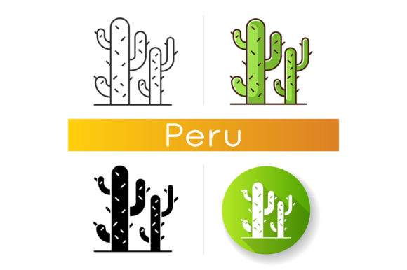 Print on Demand: Cactuses Icons Set Graphic Icons By bsd studio
