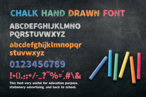 Print on Demand: Chalk Hand Drawn Display Font By OWPictures