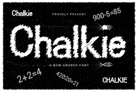 Print on Demand: Chalkie Display Font By nabarya.business