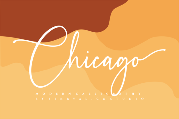 Print on Demand: Chicago Script & Handwritten Font By mfikryalif