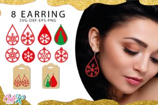 Christmas Earrings Templante Bundle Graphic Illustrations By Cute files