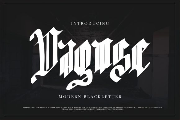 Print on Demand: Dagose Blackletter Font By Vunira