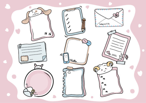 Doodle Planner Bullet Journal Clipart Graphic Illustrations By ABs