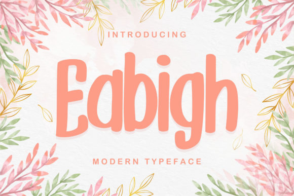 Print on Demand: Eabigh Display Font By Vunira