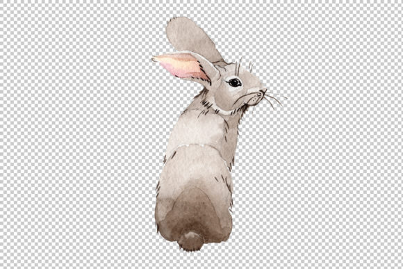 Print on Demand: Easter Bunny Watercolor Graphic Illustrations By MyStocks - Image 2