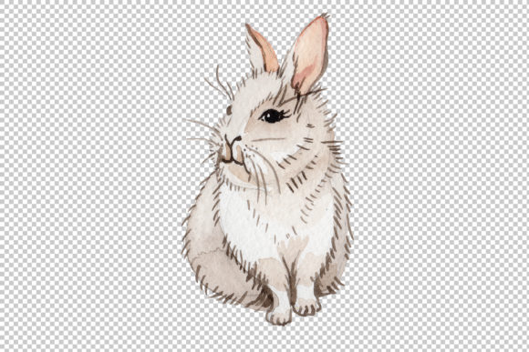 Print on Demand: Easter Bunny Watercolor Graphic Illustrations By MyStocks - Image 4