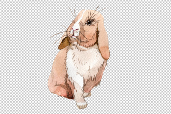 Print on Demand: Easter Bunny Watercolor Graphic Illustrations By MyStocks - Image 5