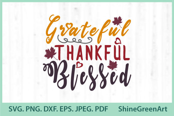 Print on Demand: Fall Autumn Thankful Grateful Blessed Graphic Illustrations By ShineGreenArt