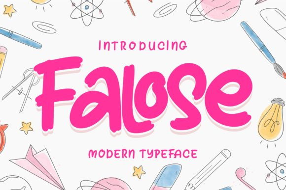 Print on Demand: Falose Script & Handwritten Font By Vunira