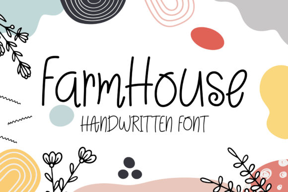 Print on Demand: FarmHouse Script & Handwritten Font By wanchana365