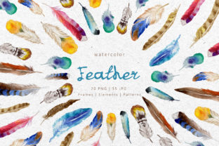 Print on Demand: Feather Watercolor Png Graphic Illustrations By MyStocks