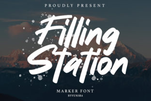 Print on Demand: Filling Station Sans Serif Font By Vunira