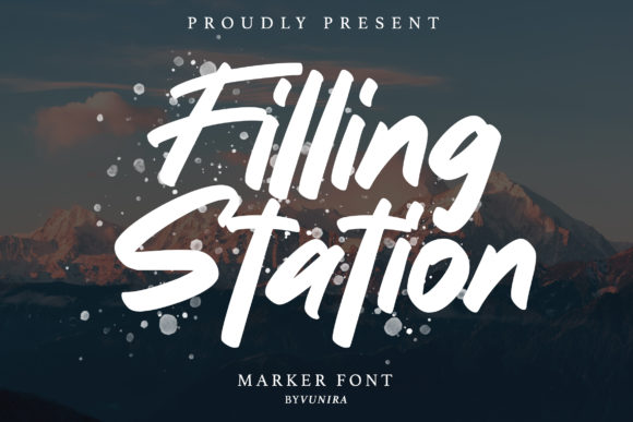 Print on Demand: Filling Station Sans Serif Fuente Por Vunira