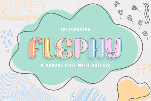 Print on Demand: Flephy Display Font By RochArt