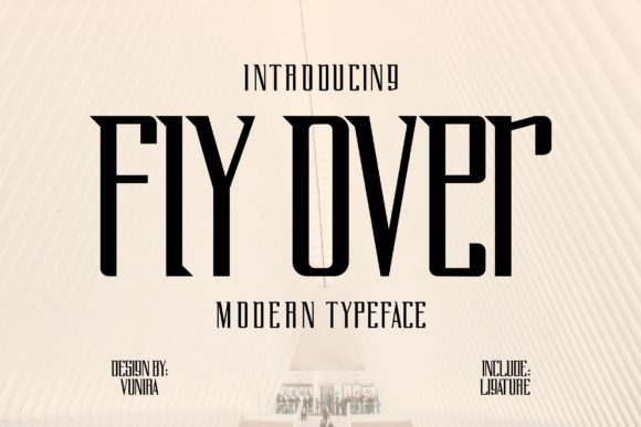 Print on Demand: Fly over Serif Font By Vunira