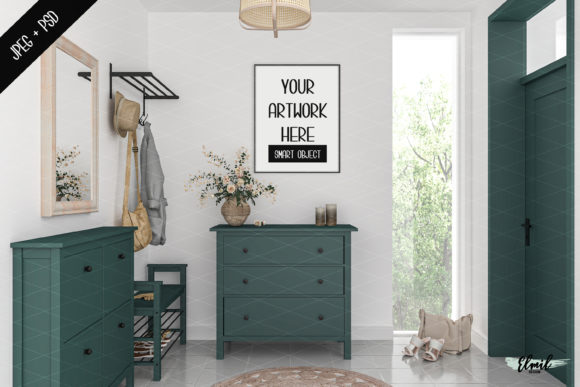 Frame & Canvas Mockup - Entryway Graphic Product Mockups By Elmil Design