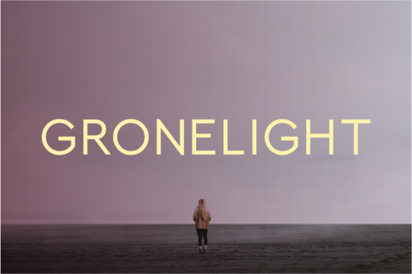Print on Demand: Gronelight Sans Serif Font By A Christie