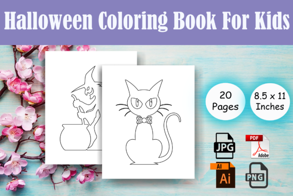 Print on Demand: Halloween Kids Coloring Pages - Kdp Graphic Coloring Pages & Books Kids By Sei Ripan