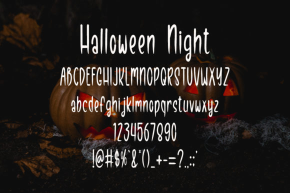 Halloween Night Font Preview