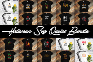 Print on Demand: Hallween Quotes Bundle Graphic Print Templates By SVG_Huge