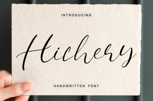 Print on Demand: Hichery Script & Handwritten Font By it_was_a_good_day
