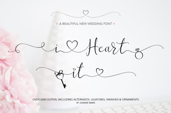 Print on Demand: I Heart It Script & Handwritten Font By joanne.hewitt