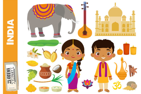 India Clipart India Digital Art Diwali Graphic Teaching Materials By Zlatoena Clipart